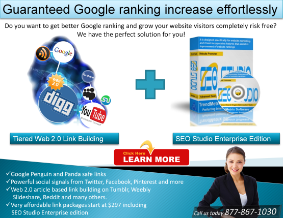 Web 2.0 Link building and SEO Studio Enterprise