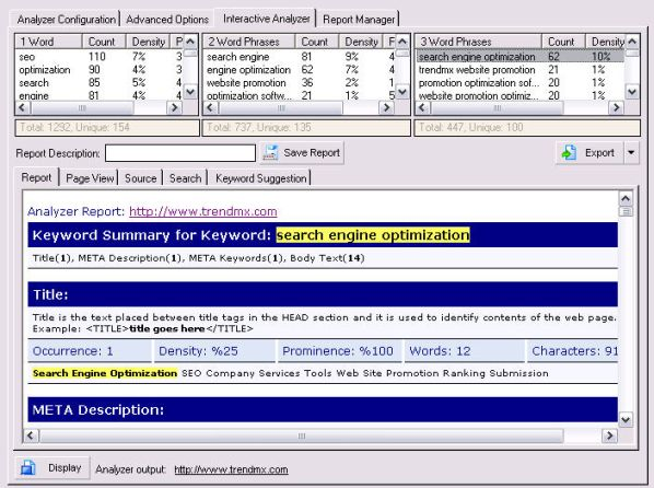 Keyword Research and Analysis Tool